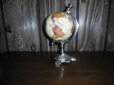 """decorative world globe 10"""" high"""