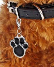 placa chapa perro con clip llavero acero inoxidable negro 2,5x3cm calidad nueva