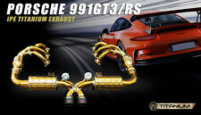 IPE TITANIUM LINE FOR Porsche 991 GT3 Valvetronic Muffler + Tips