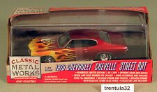 1/4,999 1970 Chevelle Street Rat 1:24 Scale Die-cast Classic Metal Works RED