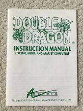 New ListingDouble Dragon Instruction Manual for Ibm Amiga and Atari St Computers