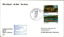 LUFTHANSA Erstflug DC 10 LH 423 BOSTON - MÜNCHEN 1st Flight 1986 Airmail Cover