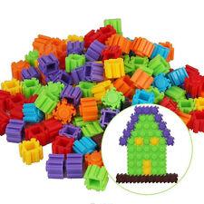 200Pcs Plastic Children Kids Puzzle Building Blocks Bricks Educational Toy 4N