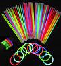 """15 x 8"""" Glow Sticks Bracelets Necklaces Neon Colors Party Favors Disco Rave Rock"""