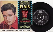 "ELVIS PRESLEY - BOSSA NOVA BABY Very rare 1963 Aussie 7"" P/S Single Release!"