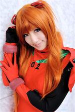 EVA Soryu Asuka Langley Wig Cosplay Wig 60cm Orange+Wig Cap