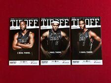 "2010, ""BIG THREE"", LeBron James, D. Wade, C. Bosh, ""TIPOFF"" Magazines (Set of 3)"