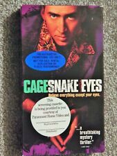 Snake Eyes (Vhs 1990S) Rare Screener Nicolas Cage, Gary Sinise, Carla Cugino