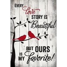 "EVERY LOVE STORY IS BEAUTIFUL... Distressed Pallet Wood Sign, 24.75"" x 36"""