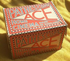 Vintage Pathescope ACE  boxed projector 9.5mm Made in England with instructions