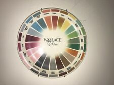 "VTG 10"" 40's WALLACE CHINA Restaurant Ware Salesman Sample Plate Pie Color Wheel"