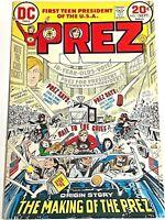 PREZ#1 VF 1973 DC BRONZE AGE COMICS