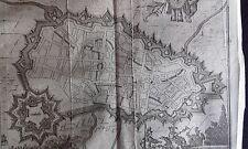 Plan de la ville de LILLE GRAVURE originale HARREWYN DELICES des PAYS BAS 1711