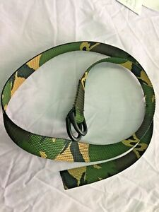 """1"""" Camo Utility Strap / Kids Army Belt, Military DPM, 3ft length D Ring Cord NEW"""