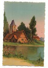 Fantaisie - cpa - Eglise au bord de la rivière  (C5783)