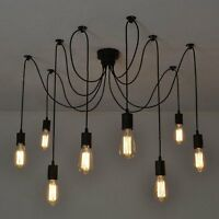 Ceiling Lamp Vintage Pendant Retro 8-Arm Spider Living Room Dining Room Hotel