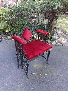Antique Art Deco Cast Iron Arm Chair