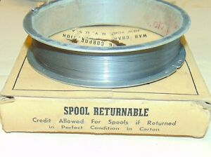 100 FT. WAH CHANG NOS NIB CLEANED TUNGSTEN VINTAGE WIRE .010 RARE HIGHEST GRADE