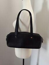 Authentic Burberry London Shoulder Bag Purse Black Leather Satchel Italy EUC