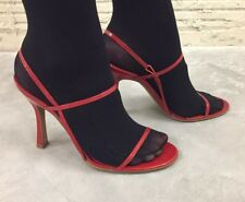 Red Patent Leather Strappy Sandals Size 7