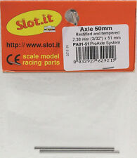 SLOT IT SIPA01-51 3/32 51mm AXLE TEMPERED & RECTIFIED NEW 1/32 SLOT CAR PART