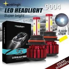 2Pcs 4-Side 9004 Led Headlight Bulbs 32000Lm Hi/Lo Dual Beam White 6000K +Canbus (Fits: Isuzu)