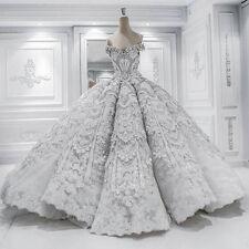 New Princess Ball Gown Pretty Wedding Dress Chapel long train Luxury Bridal Gown
