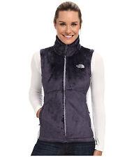 New Women's North Face Osito Fleece Jacket Vest Greytone Blue Large