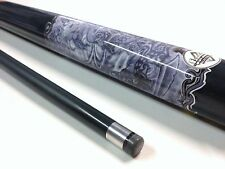 Illusion TATTOO Tats Ink Master Graphite Pool Snooker Billiard Cue 9mm Cue Tip