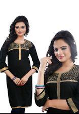 UK STOCK - Women Fashion Indian Short Kurti Tunic Kurta Top Shirt Dress ECCO17A