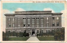 McDowell County Court House in Marion NC Postcard 1938
