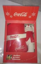Xmas Christmas Limited Edition Coke Coca Cola Polar Bear Fleece Blanket