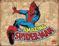 Spiderman Panels Rustic Retro Tin Sign 13 x 16in