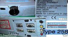 LIESEGANG BEAMER DV 225 TYP 258 DIGITAL 3 LCD PROJECTOR MULTIMEDIA PROJEKTOR BW