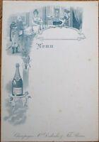 Champagne Xavier Desbordes & Fils, Reims 1900 French Advertising Menu