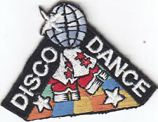 """DISCO DANCE"" PATCH- Iron On Embroidered Applique/Dance, Music, Party"