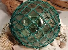 Authentic BLOWN Japanese Fishing Float - 5 inch netted