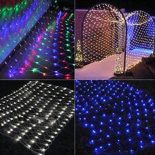 LED Lichternetz Vorhang Garten Lichter Netz Beleuchtung Weihnachten Party Deko