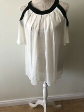 Ladies Cold Shoulder Summer Tunic Top Size 10