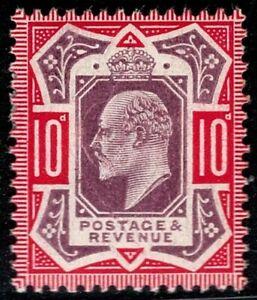 1906 QV SG255 10d Slate Purple & Deep Carmine M43(3) MH Mint CV £350