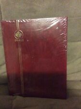 Red UNI-Safe hardcover stamp album-brand new-sealed