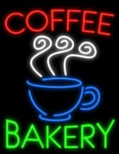 "New Coffee Bakery Open Bar Pub Light Lamp Neon Sign 24""x20"""