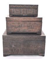 Truhe Antik Schatzkiste Box Holzkiste Holztruhe Piratentruhe 3 Größen