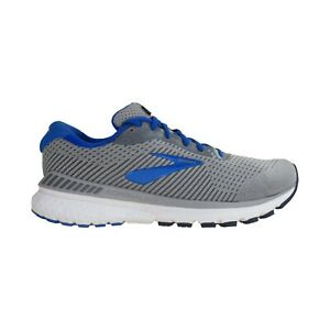 Mens Brooks Adrenaline GTS 20 Gray Blue Cushioned Running Shoes