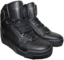 $890 Givenchy Tyson Black Leather High Top Black Leather Sneakers Shoes 39 - 7
