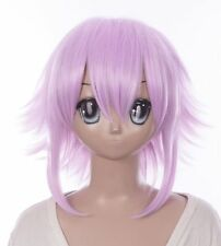W-594 Soul Eater Halo Neptunia Rosa Pink Violet 40 cm Court Cosplay Perruque Wig