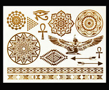 Flash Temporary Metallic Tattoo Body Einmal Gold Silber Henna Armband Kette Ring