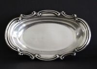 "REED & BARTON BOWL Silverplate Scroll 1062 Vegetable oval Serving Vintage 12"" CA"