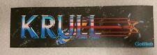 Krull arcade marquee sticker. 3 x 10. (Buy 3 stickers, GET ONE FREE!)