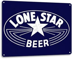 Lone Star Beer Texas Retro Vintage Wall Decor Bar Man Cave Metal Tin Sign New